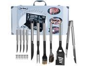Chef Buddy 19 Piece Stainless Steel Heavy Duty BBQ Set with Case