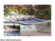 Smart Garden 51325-RNVY Santorini Premium Reversible Double Hammock - Navy Stripe-Solid