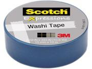 3M Washi Tape .59 X393 15mmx10m Blue