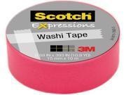 """3M Washi Tape .59""""X393"""" (15mmx10m)-Pink"""