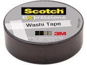 3M Washi Tape .59 X393 15mmx10m Black