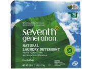 Natural Powder Laundry Detergent, Free & Clear, 70 Loads, 112 Oz Box