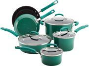 Rachael Ray 10-pc. Nonstick Porcelain Enamel II Cookware Set, Fennel Gradient