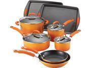 Rachael Ray 12-pc. Nonstick Porcelain II Cookware Set, Orange Gradient