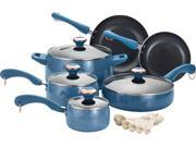 Paula Deen 15-pc. Nonstick Signature Porcelain Cookware Set, Blueberry Speckle