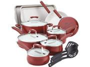 Paula Deen 17-pc. Nonstick Savannah Collection Cookware Set with Bakeware, Red