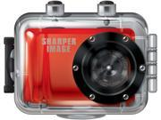 Sharper Image SVC555 Digital Camcorder - HD - Red - 16:9 - 4X Digital Zoom - USB - microSD Card - Memory Card - Wearable - Helmet Mount, Bike Mount