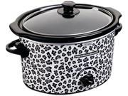 3-Quart Slow Cooker with Cheetah Pattern Design