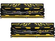 AVEXIR Blitz 1.1 Series Original Gold (Yellow LED) 8GB Kit (2 x 4GB) Dual Channel 240-pin DDR3 SDRAM DDR3 2400 (PC3 19200) Desktop Memory Module Model AVD3U24001004G-2BZ1SE