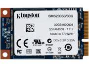 Kingston SSD Now mS200 mSATA 30GB SATA III Internal Solid State Drive (SSD) SMS200S3/30G