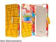 iPhone 6 Plus / iPhone 6S Plus Wallet Case - Vintage Flower Pop!, EMPIRE KLIX Klutch Designer Wallet [4 Slots] Inner Hard Polycarbonate Felt Lining Case for iPhone 6 Plus / iPhone 6S Plus