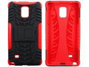 roocase Galaxy Note 4 Case - roocase [TRAK Armor] Note 4 Hybrid Dual Layer Rugged Tough Case Cover with Kickstand roocase Made for Samsung Galaxy Note 4, Red