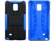 roocase Galaxy Note 4 Case - roocase [TRAK Armor] Note 4 Hybrid Dual Layer Rugged Tough Case Cover with Kickstand roocase Made for Samsung Galaxy Note 4, Blue