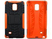 roocase Galaxy Note 4 Case - roocase [TRAK Armor] Note 4 Hybrid Dual Layer Rugged Tough Case Cover with Kickstand roocase Made for Samsung Galaxy Note 4, Orange