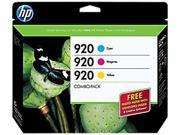 HP 920 Tri-color combo pack Ink Cartridge (B3B30FN#140) - Cyan, Magenta, Yellow