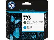 HP 773 Matte Black/Cyan Printhead 9SIA86E4T25797
