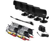 Zmodo Surveillance ZMD-P4-CARAZ4ZN 1/3.7inch CMOS 600TVL Outdoor 50 IR Bullet Cameras 4Pack Retail