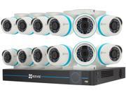 EZVIZ Outdoor 4MP IP PoE Video Security Surveillance System, 12 Weatherproof HD Cameras, 16 Channel 3TB NVR Storage, Night Vision, Motion Tracking (BN-1G4CA3)