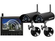 SecurityMan DIGILCDDVR2 Two digital wireless cameras with LCDDVR system Black