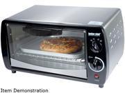 Better Chef IM 269SB Toaster Oven Silver 300W 9 Liter W Bake Pan Wire Rack Home Garden