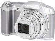 Olympus SZ-16 iHS V102100SU000 Silver 16 MP 25mm Wide Angle Digital Camera HDTV Output