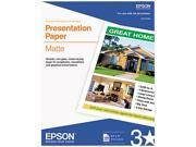 "Epson S041062 Presentation Paper Letter - 8.50"" x 11"" - 27 lb - Matte - 90 Brightness - 100 / Pack - White"
