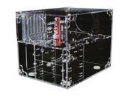 "Only $79.99 for W00t!! Don't pass this transparent game cube by! Sunbeam's UFO case is the ultimate way to show off your gaming rig. The case is designed in two levels and the atypical layout of your components gives the best display angle and it provides better cooling. Your full-sized ATX motherboard lays on its side and 7 expansion cards sit at the front of the case right in front of the 120 mm fan. Both 120mm fans front and rear sport LED lights so the whole case lights up. On the lower level there's room for 2 external 5.25"" drives and 2 internal 3.5"" drives plus a optional PSU. There's also plenty of space on this level for an optional liquid-cooling system's pump and reservoir and room on the back for the external radiator next to the exhaust fan. Convenient front I/O panel features USB ports and audio jacks. Not only will the UFO ACUF-T provide superior cooling but it offers space to showcase your goods in style! With Power Supply: No With Side Panel Window: Yes External 5.25' Drive Bays: 2 External 3.5' Drive Bays: No Internal 3.5' Drive Bays: 2 Front Ports: USB / Audio Side Air duct: No Motherboard Compatibility: ATX. SKU N82E16811166041 in the ATX Computer Cases category."