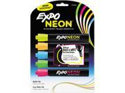 Neon Dry Erase Marker, Bullet Tip, Assorted, 5 Per Set 9SIV0241UP8594