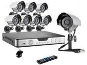 Zmodo Surveillance KDB8-CARCZ8ZN-1T 8Channel H.264 DVR Security System with 1TB HDD 600TVL Cameras Retail