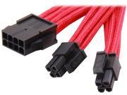 Silverstone PP07-EPS8R Sleeved Extension Power Supply Cable, 1 x 8pin to EPS12V 8pin(4+4) Connector