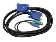 StarTech 6 ft. Ultra Thin PS 2 3 in 1 KVM Cable Black