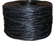 BYTECC C6E-1000K 1000 ft. Cat 6 Black Bulk Cable