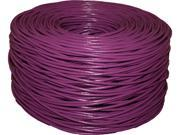 BYTECC C6E-1000P 1000 ft. Cat 6 Purple Bulk Cable