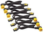 APC Model AP8704R-NA 3.94 ft Power Cord Kit (6 ea), Locking, C13 to C14 (90 Degree), 1.2m, North America