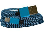 EMIO 382 Blue DuoCable Braided Lightning and microUSB Sync and Charge Cable