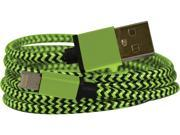 EMIO 381 Green DuoCable Braided Lightning and microUSB Sync and Charge Cable