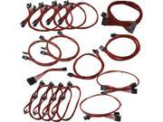 EVGA 100-CR-1050-B9 GS/PS (550/650) Red Power Supply Cable Set (Individually Sleeved)