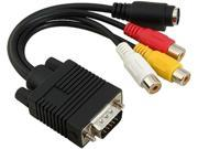 Insten 1044519 2X VGA to S-Video / 3 RCA Adapter