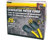 Prime Wire Model GC143925 25 ft. Generator Patch Cord, 25 ft 30 Amp 4 Prong Twist-to-Lock