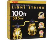 Prime Wire Model LSUG2835 100 ft. 10-Bulb 12/3 SJTW Outdoor Temporary Light String