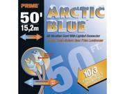 Prime Wire Model LT530930 50 ft. Ultra Heavy Duty 50-Foot Artic Blue All-Weather TPE Extension Cord