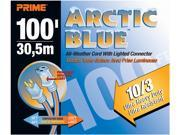 Prime Wire Model LT530935 100 ft. Ultra Heavy Duty 100-Foot Artic Blue All-Weather TPE Extension Cod