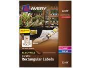 "Durable Labels, Rectangle, 1-1/4""x1-3/4"", 32/Sht,256/PK, WE AVE22828"