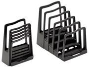 Image of Adjustable File Rack, Five Sections, 8 X 10-3/4 X 11-3/4, Black