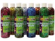 Glitter Glue Chip Class Pack Assorted Colors 8 Oz Bottles 8 Pack