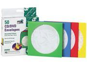 Image of Colored CD/DVD Paper Sleeves, 50/Box