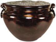 """Sparta Fiberglass Floor Pot For Artifical Trees, 16"""" Diameter, Mahogan"""