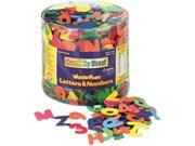 Wonderfoam Letters And Numbers, 1/2 Lb. Tub, Approximately 1,500 Piece