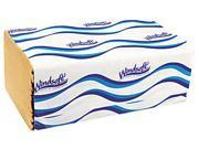Windsoft 106 Embossed Singlefold Towels, 9 3/10 x 10 1/2, Natural, 250/Pack, 16 Packs/Carton, 1 Carton