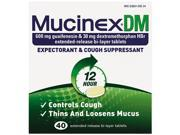 Dm Expectorant And Cough Suppressant 40 Tablets Bottle